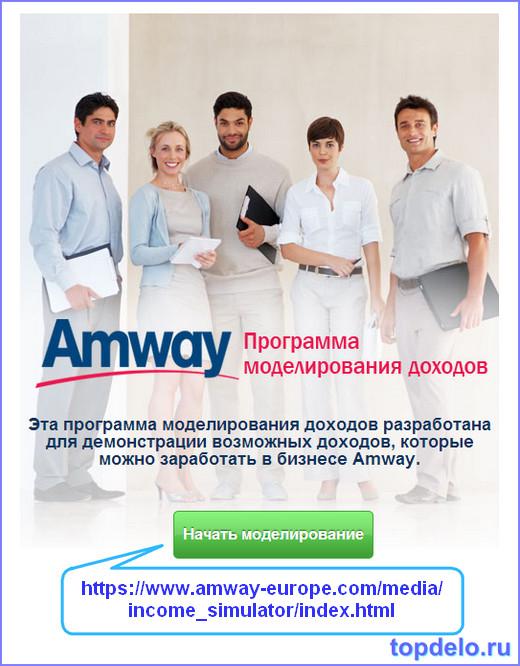 Как смоделировать свой доход в Амвей