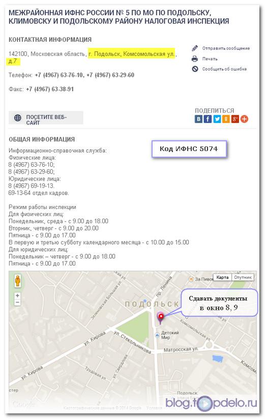 Реквизиты ИФНС для жителей Подольска и микрорайона Кузнечики